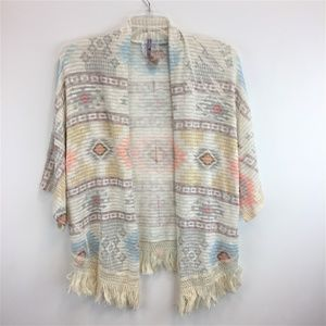MAUVE Anthropologie L Cardigan Western BOHO NEW